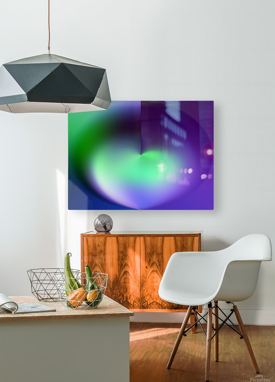 Heart Abstraction  HD Metal print with Floating Frame on Back