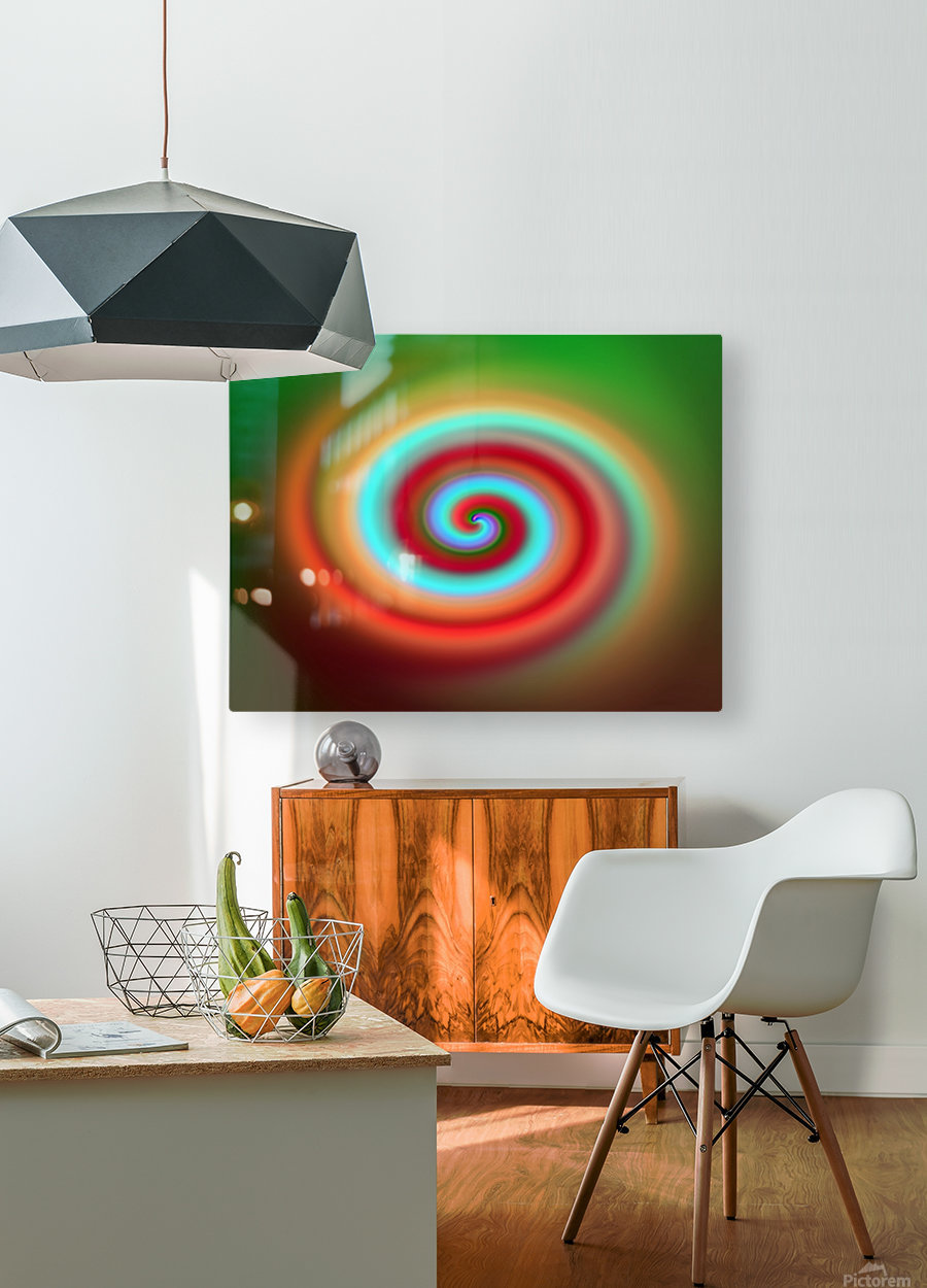Swirl  HD Metal print with Floating Frame on Back