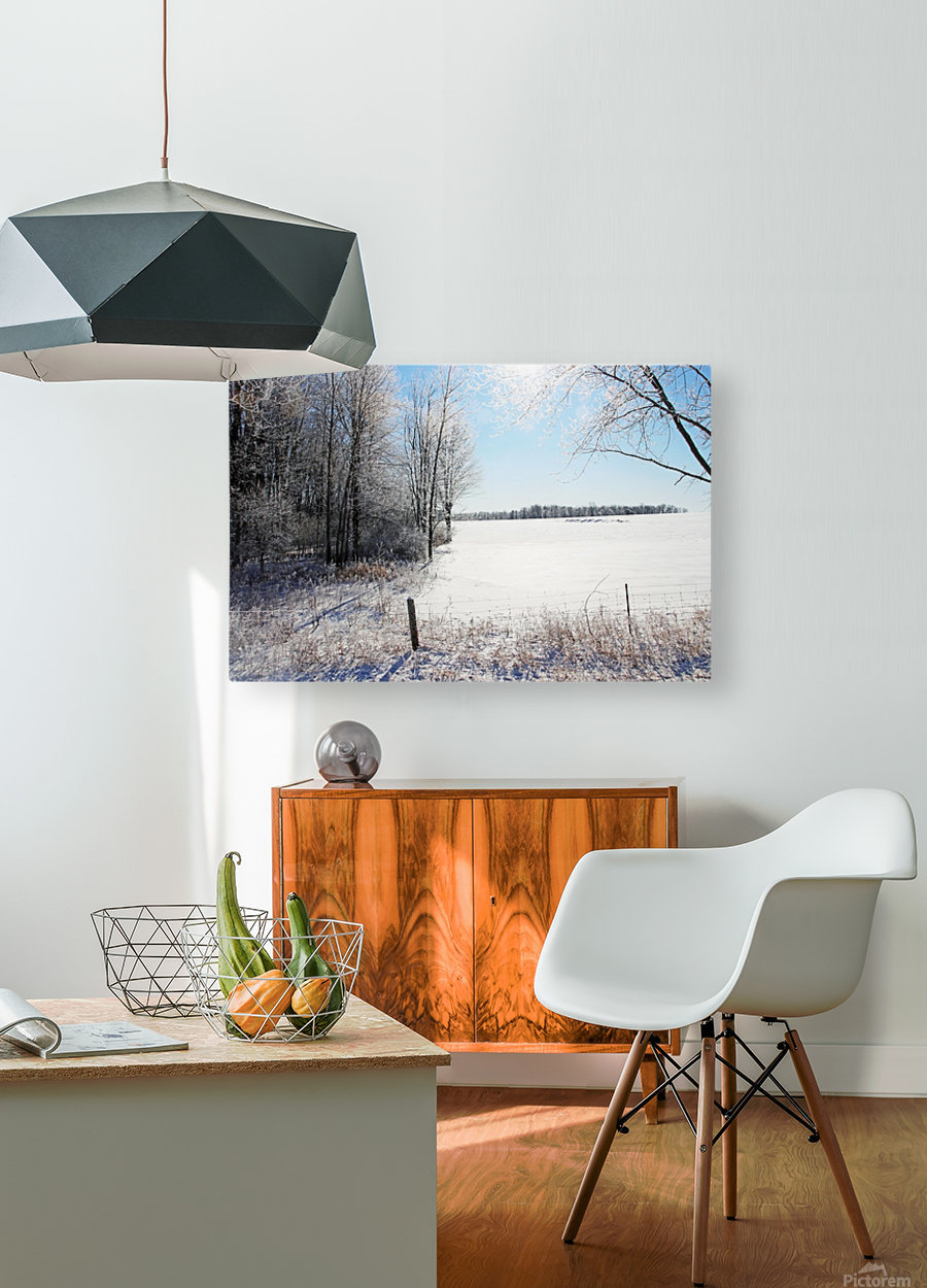 Frosty Winter Countryside I  HD Metal print with Floating Frame on Back