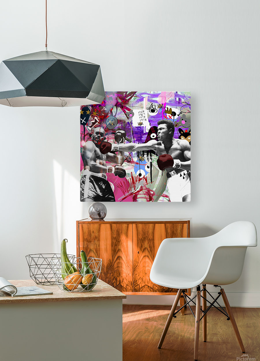 Connect  HD Metal print with Floating Frame on Back