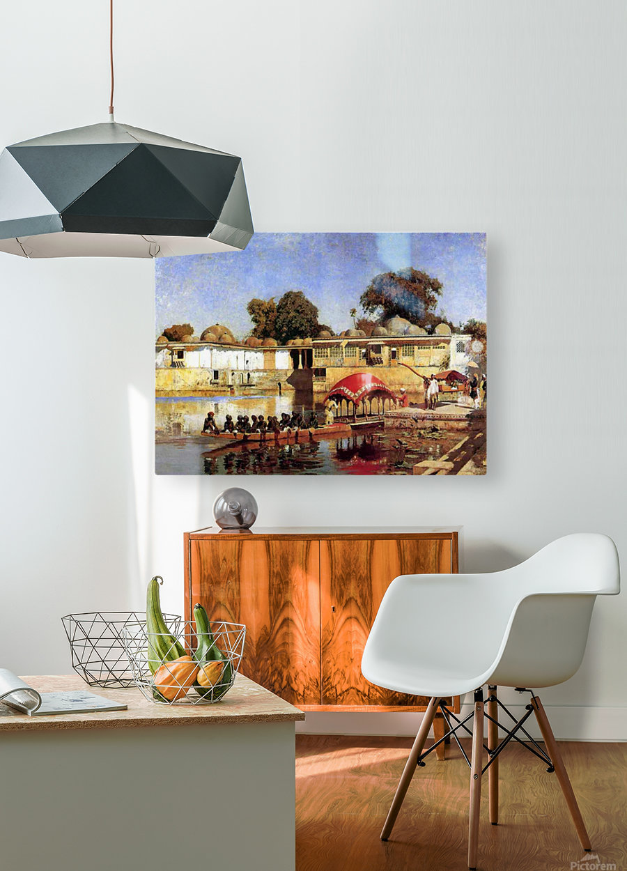 Palace and Lake at Sarket-Ahmedabad, India  HD Metal print with Floating Frame on Back