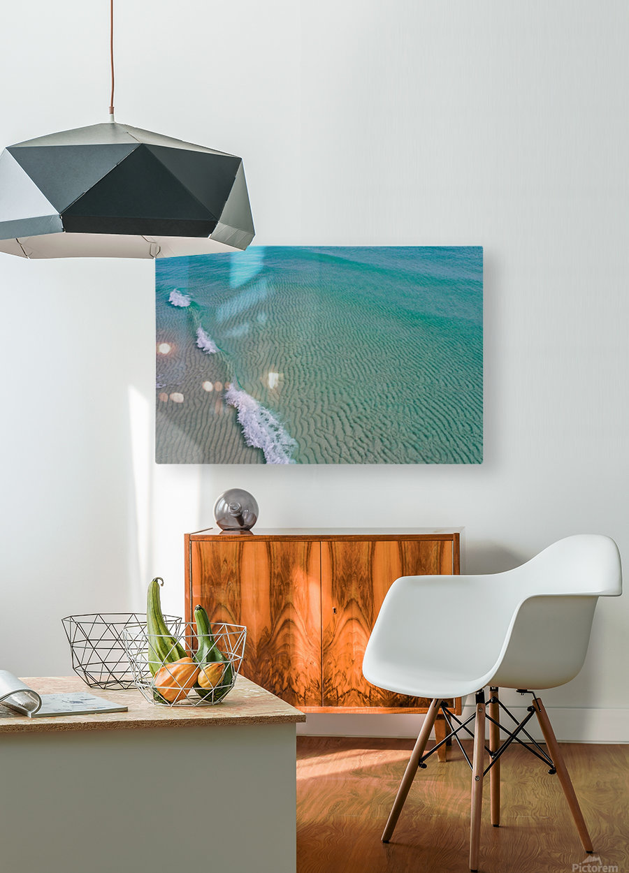 Clear Beach   HD Metal print with Floating Frame on Back
