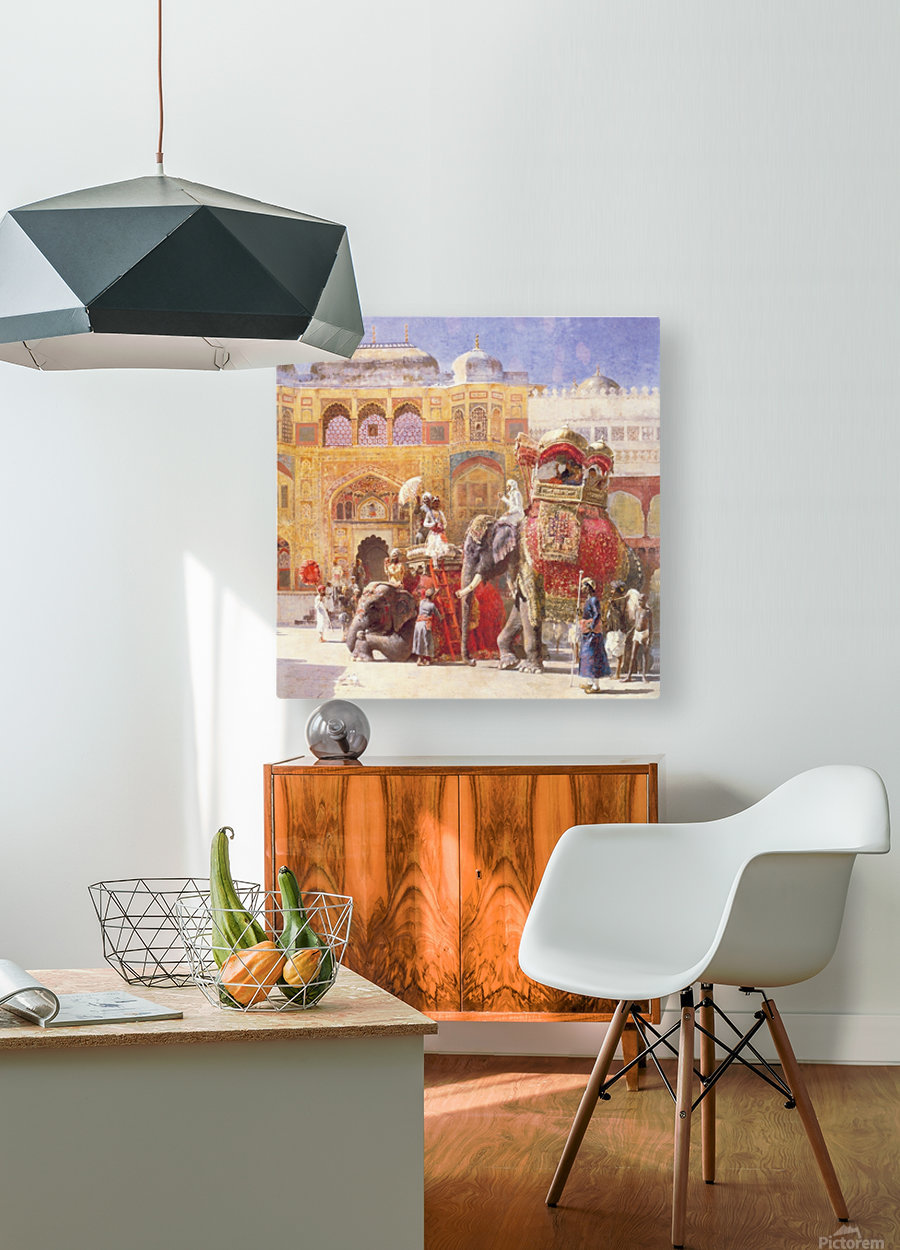 Arrival of Prince Humbert, the palace of Amber  HD Metal print with Floating Frame on Back