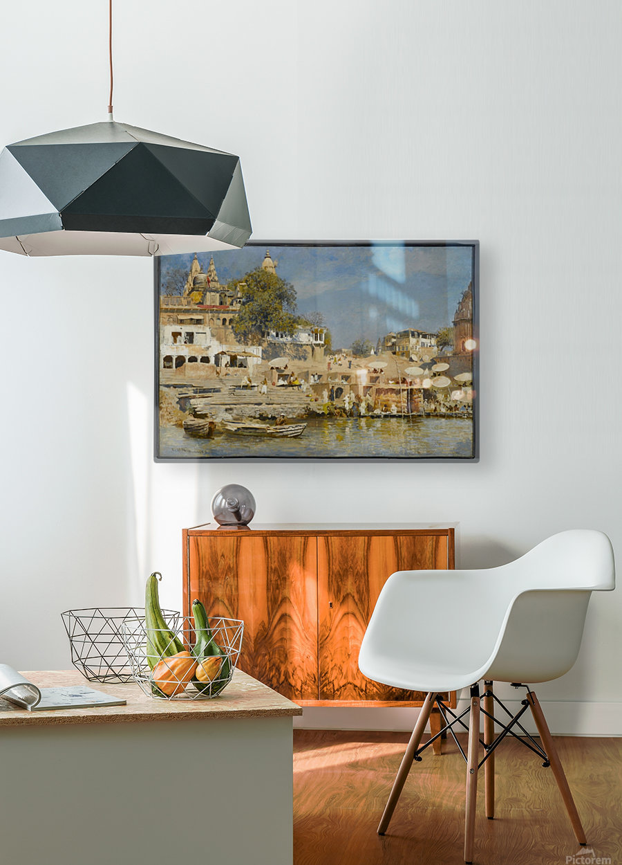Indian bath  HD Metal print with Floating Frame on Back
