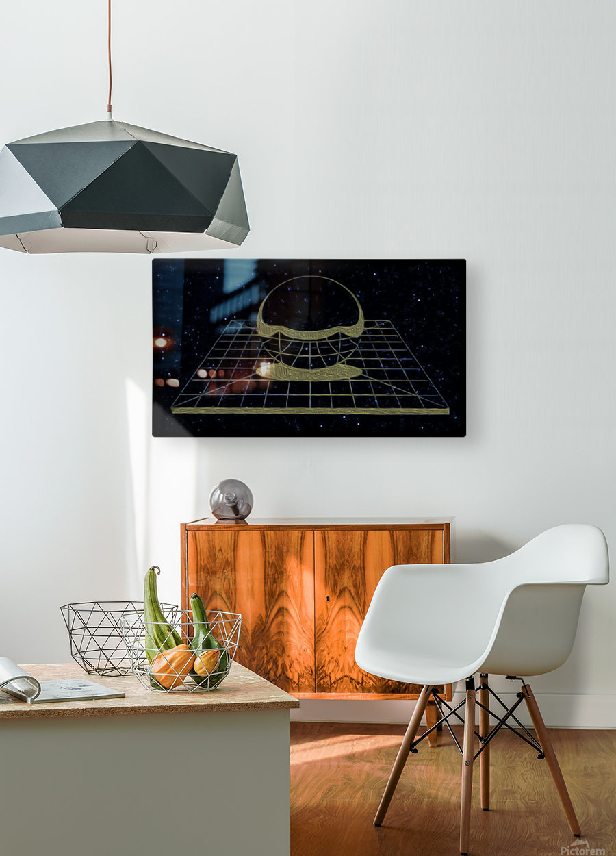 Simple Reality  HD Metal print with Floating Frame on Back