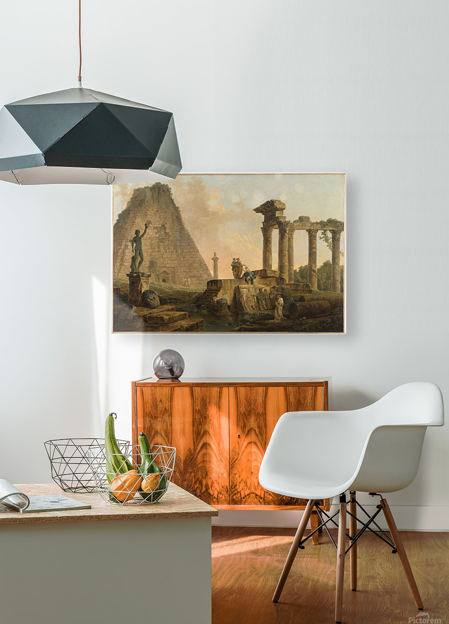 Ruines romaines  HD Metal print with Floating Frame on Back