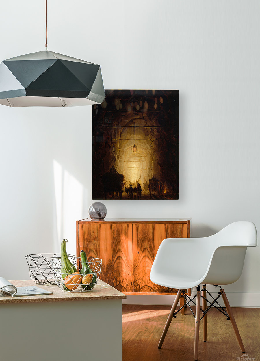 La Grotte du Pausilippe  HD Metal print with Floating Frame on Back