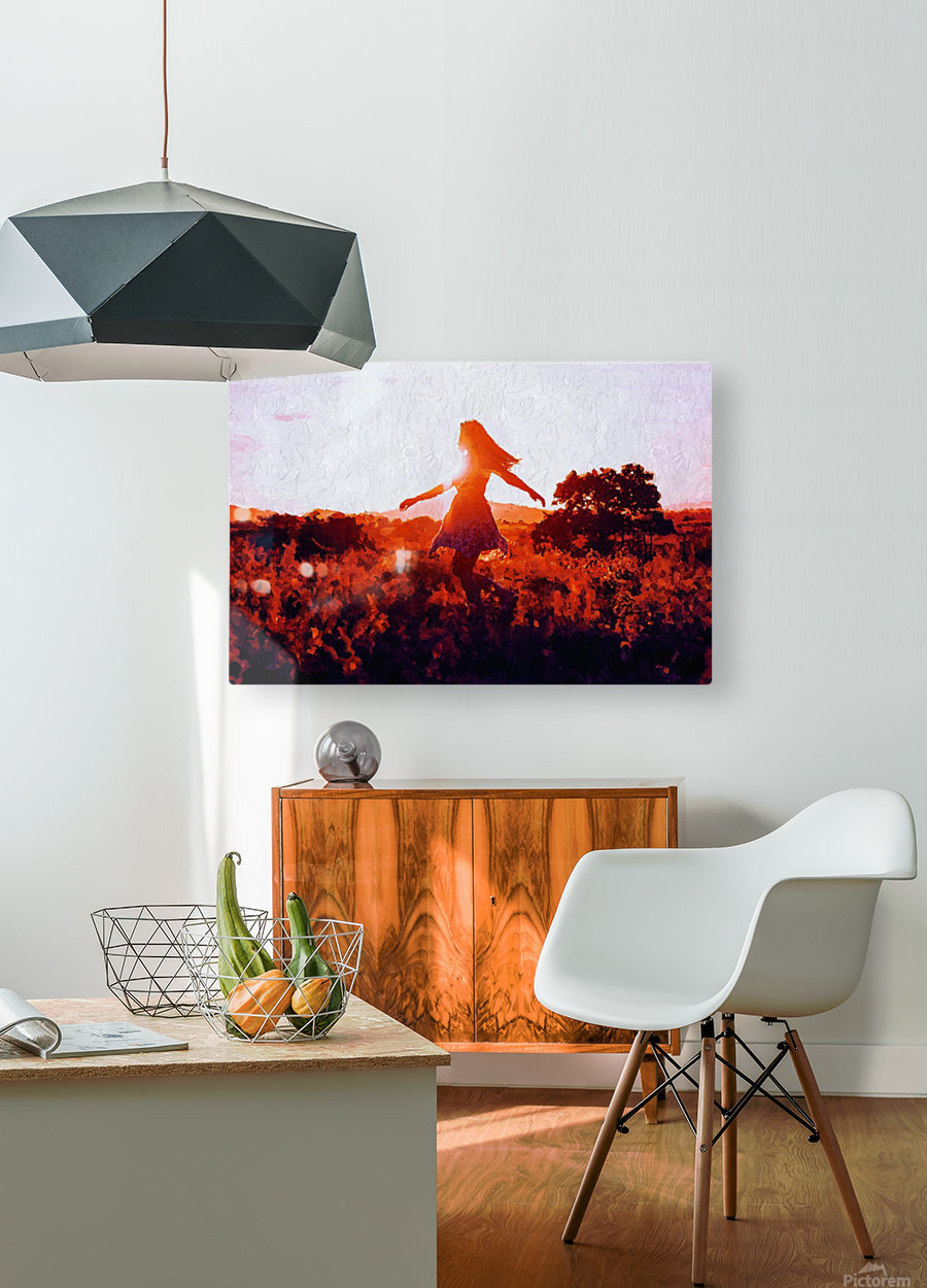 LaBelle  HD Metal print with Floating Frame on Back