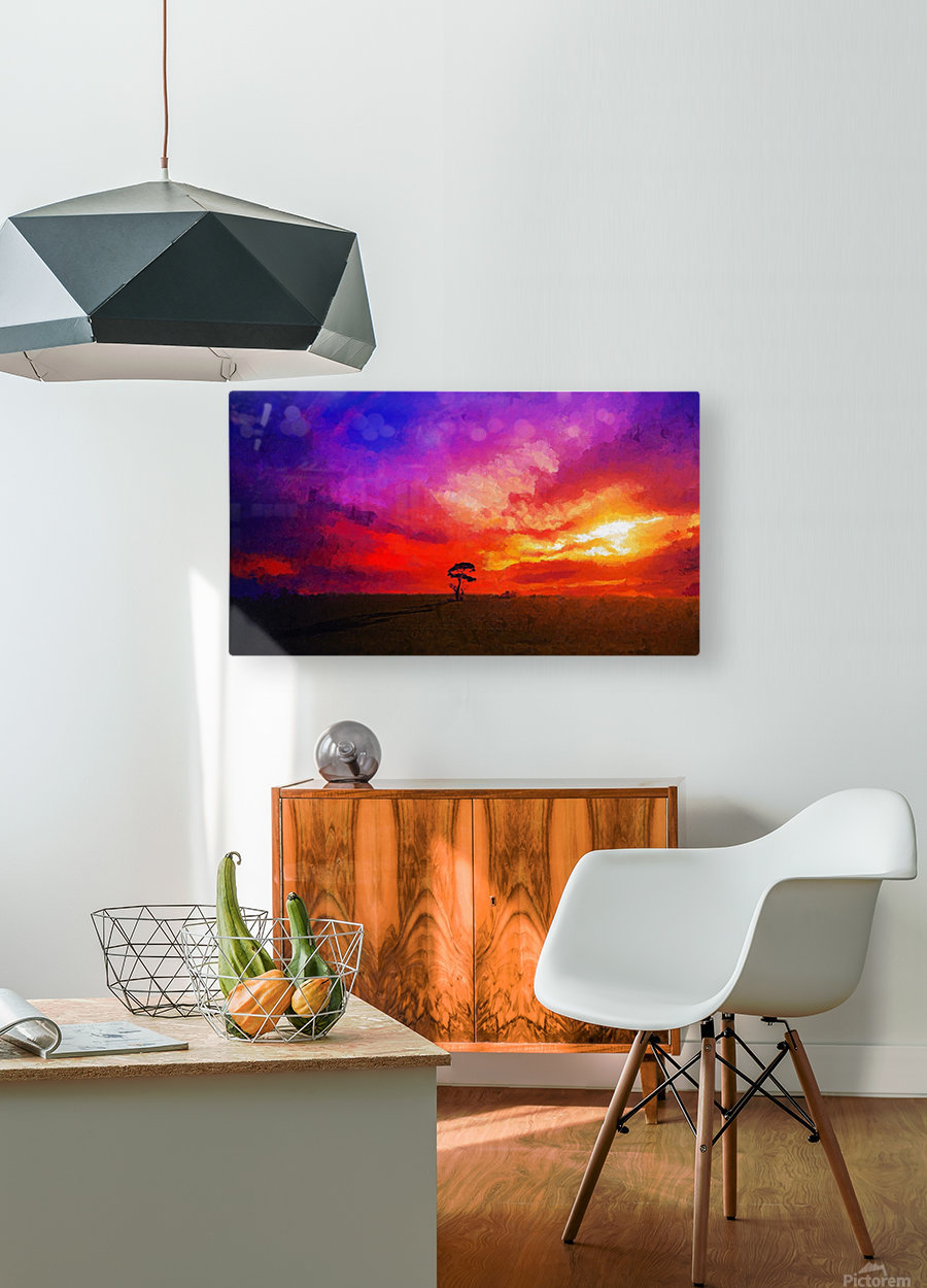 Last Sunset  HD Metal print with Floating Frame on Back
