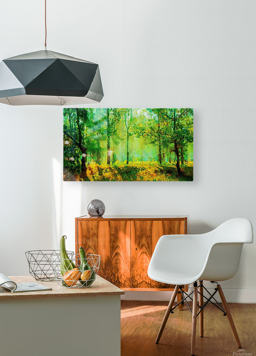 Welcome to the Jungle  HD Metal print with Floating Frame on Back
