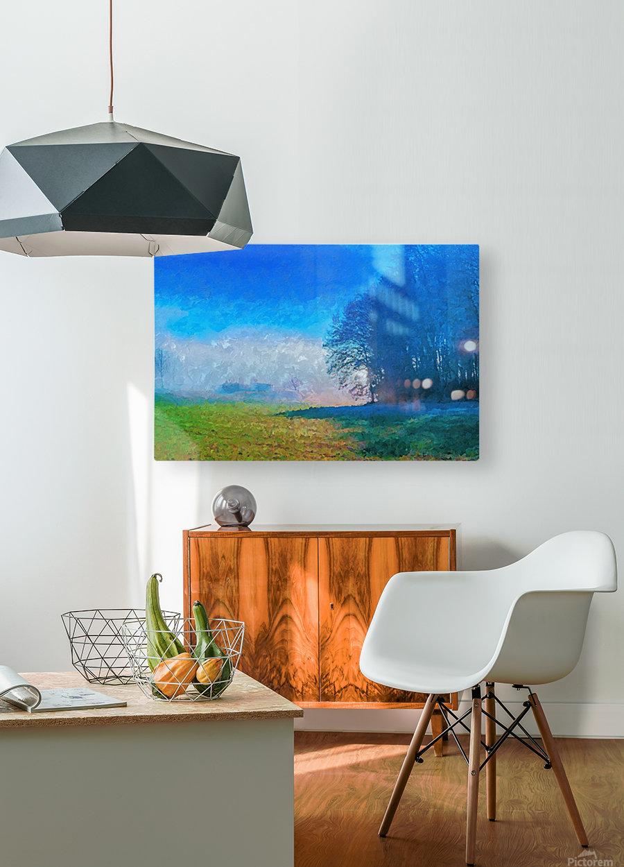 Smoky Mountain  HD Metal print with Floating Frame on Back