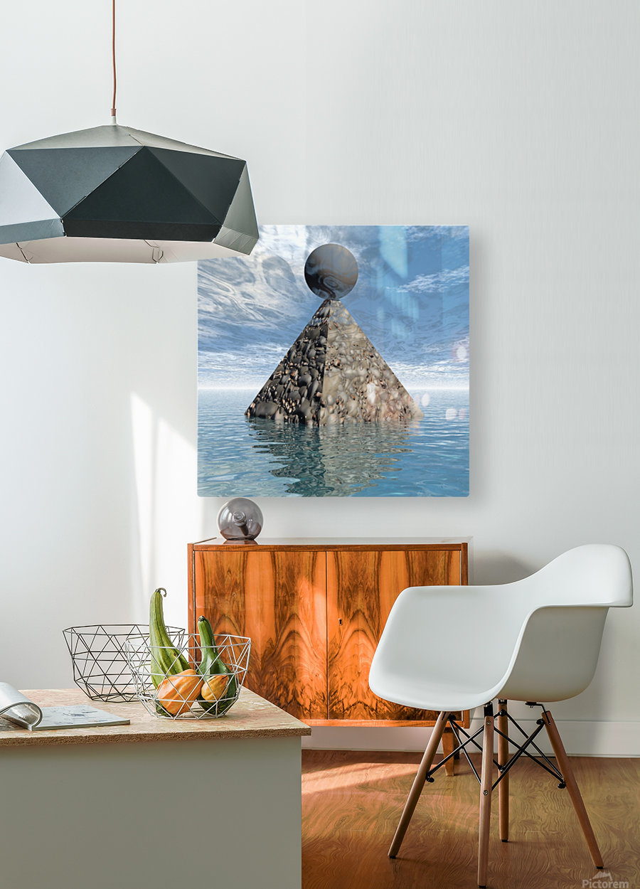 Alien City  HD Metal print with Floating Frame on Back