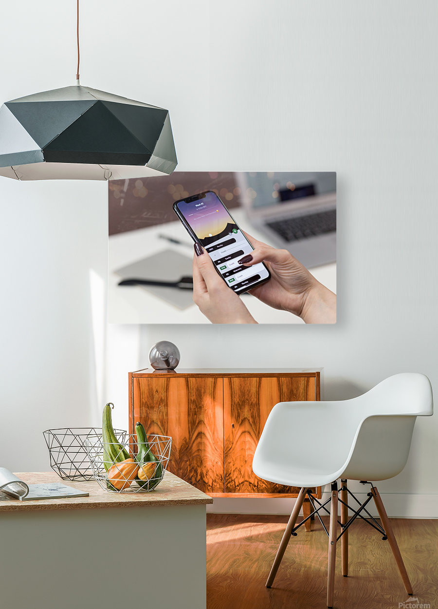app  HD Metal print with Floating Frame on Back