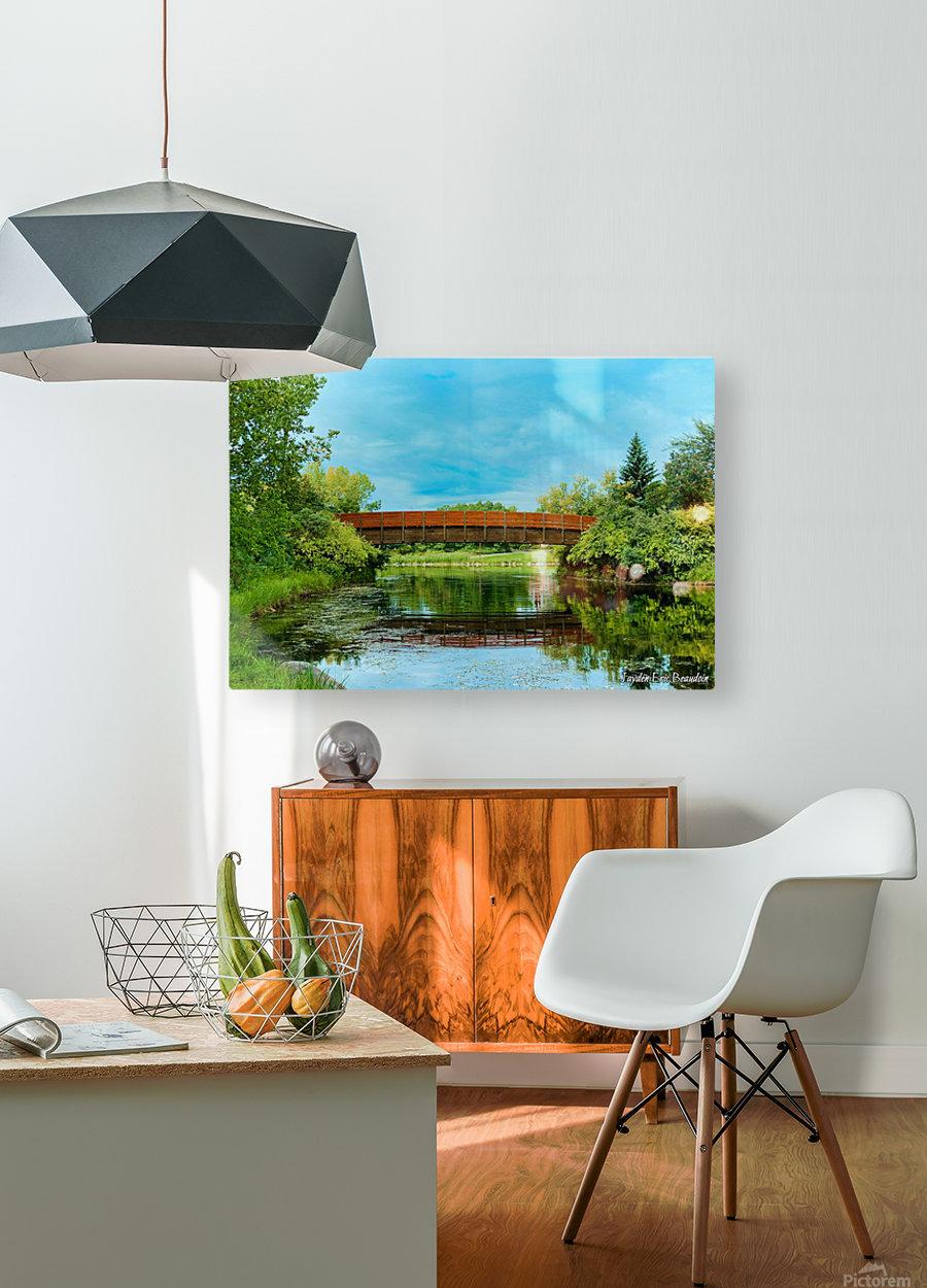 The Lonley Bridge  HD Metal print with Floating Frame on Back