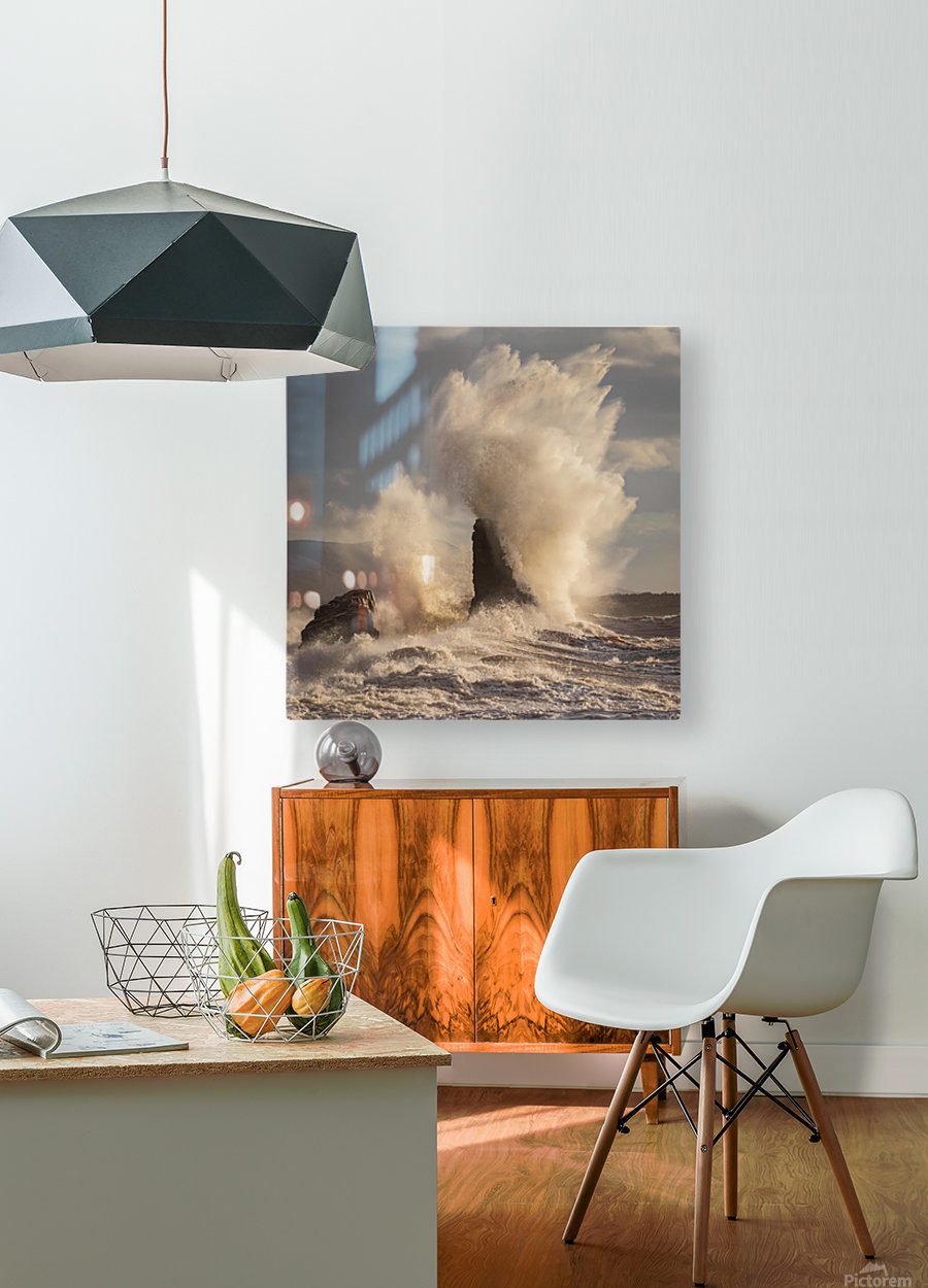 Storm at Presquile  HD Metal print with Floating Frame on Back