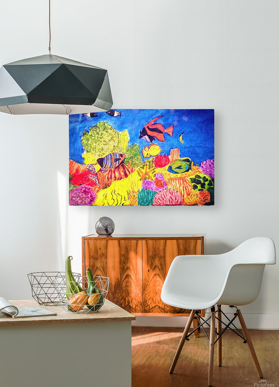 Under the Sea  HD Metal print with Floating Frame on Back
