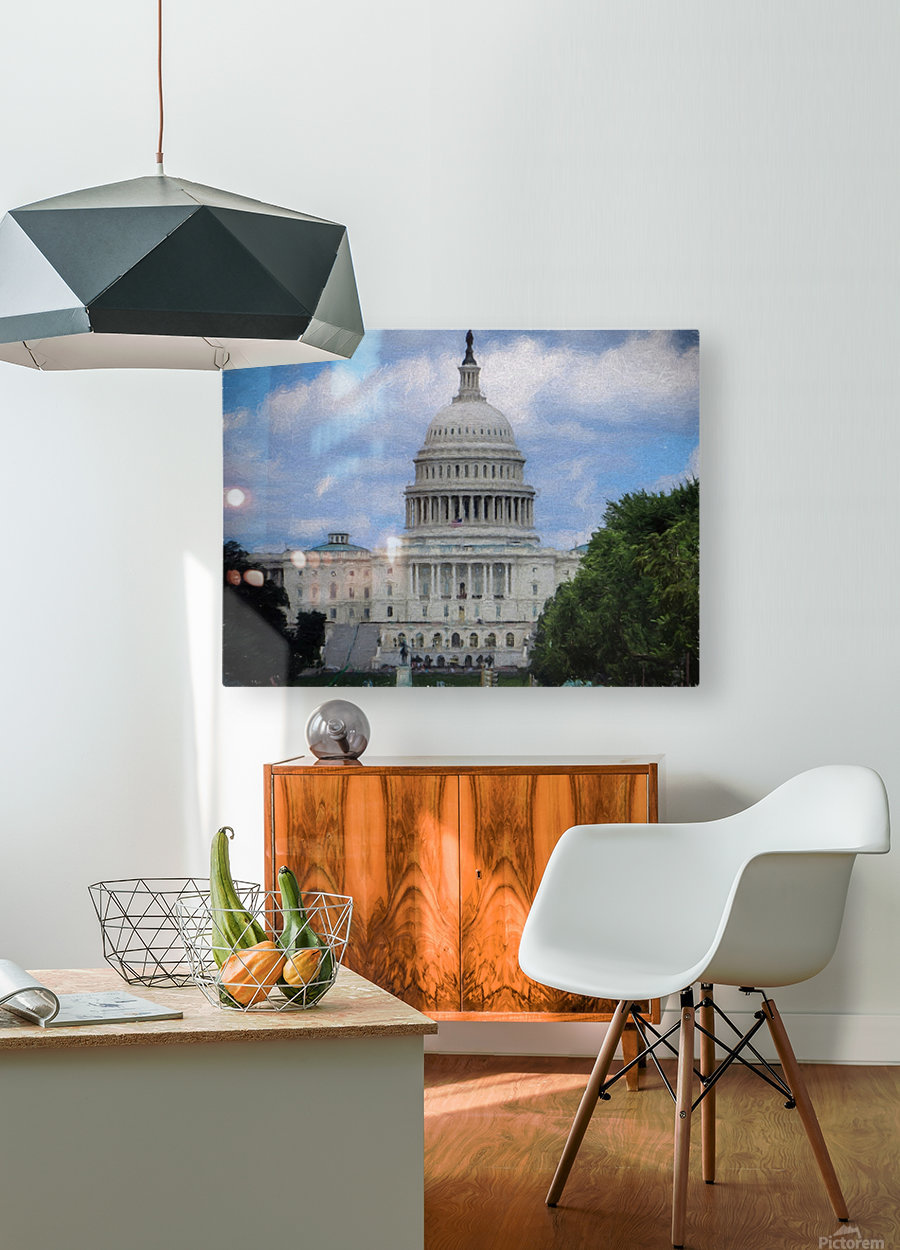 US Capital Building  HD Metal print with Floating Frame on Back