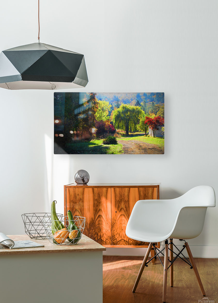 Losing the Leaves  HD Metal print with Floating Frame on Back