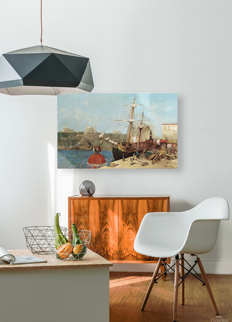 Am Goldenen Horn  HD Metal print with Floating Frame on Back