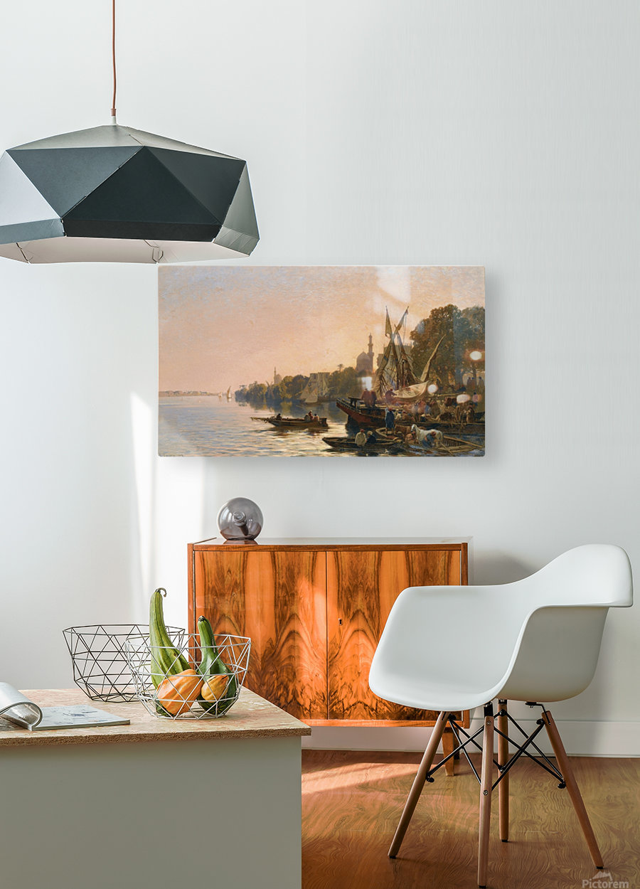 Oriental shipyard  HD Metal print with Floating Frame on Back