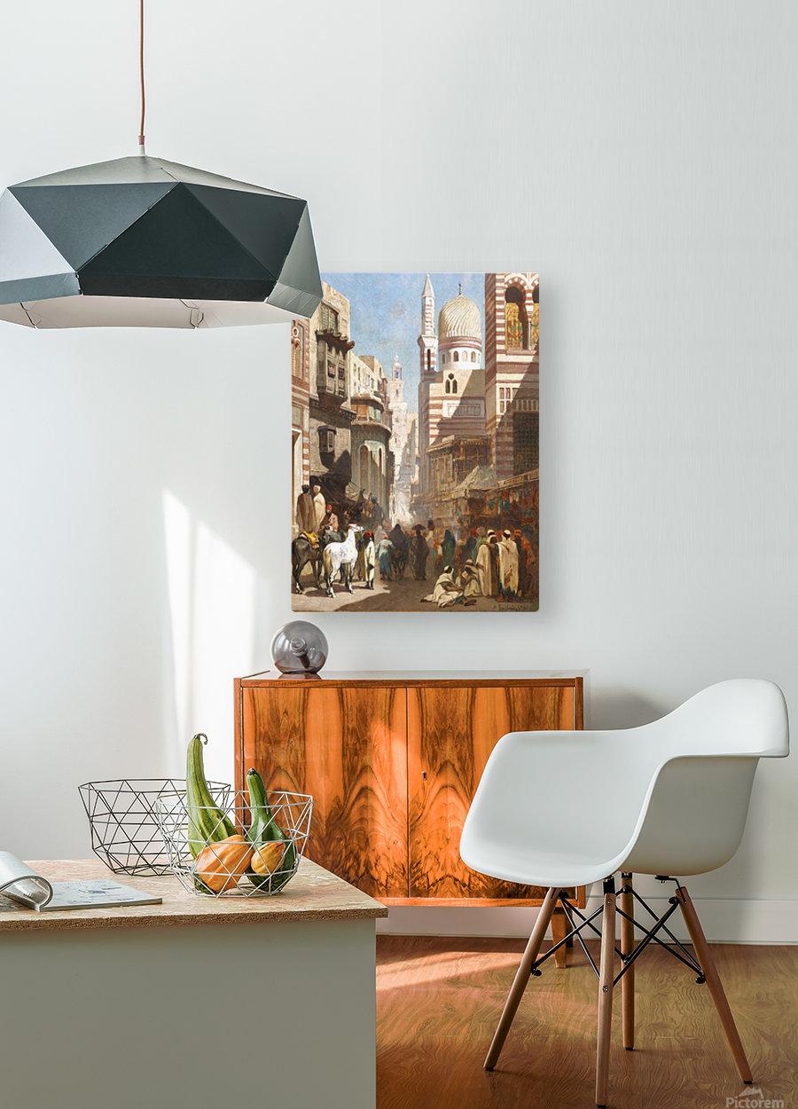 Al-Khudayri street, Cairo  HD Metal print with Floating Frame on Back