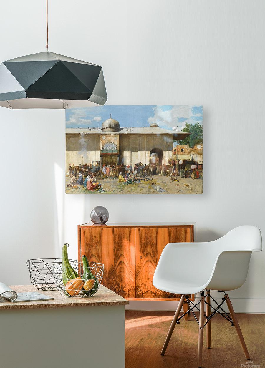 Fruit market  HD Metal print with Floating Frame on Back