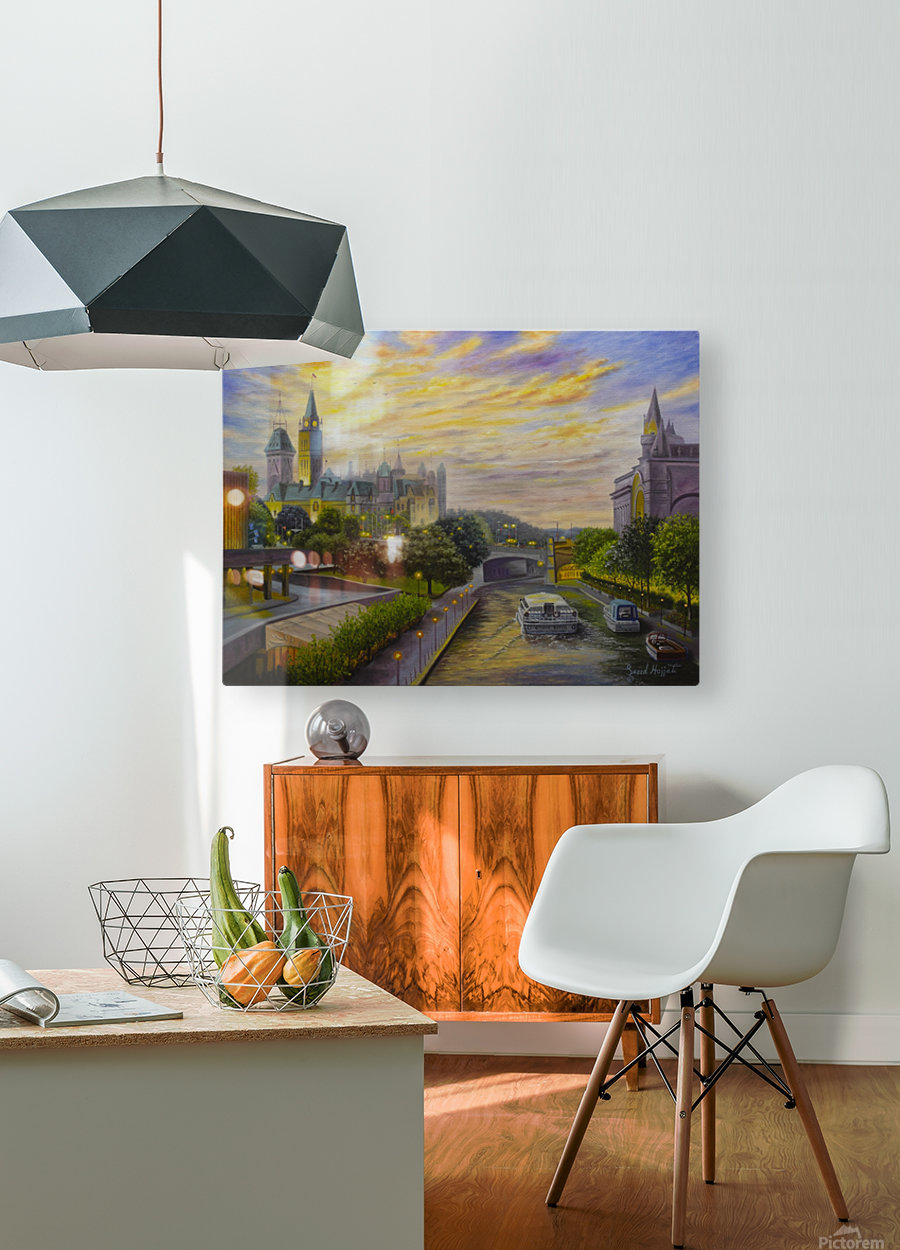 Rideau Canal in Ottawa  HD Metal print with Floating Frame on Back