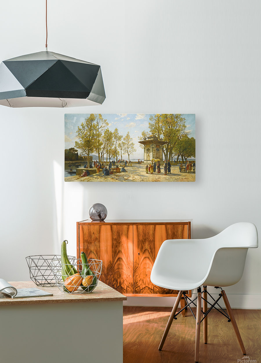 A walk in nature  HD Metal print with Floating Frame on Back
