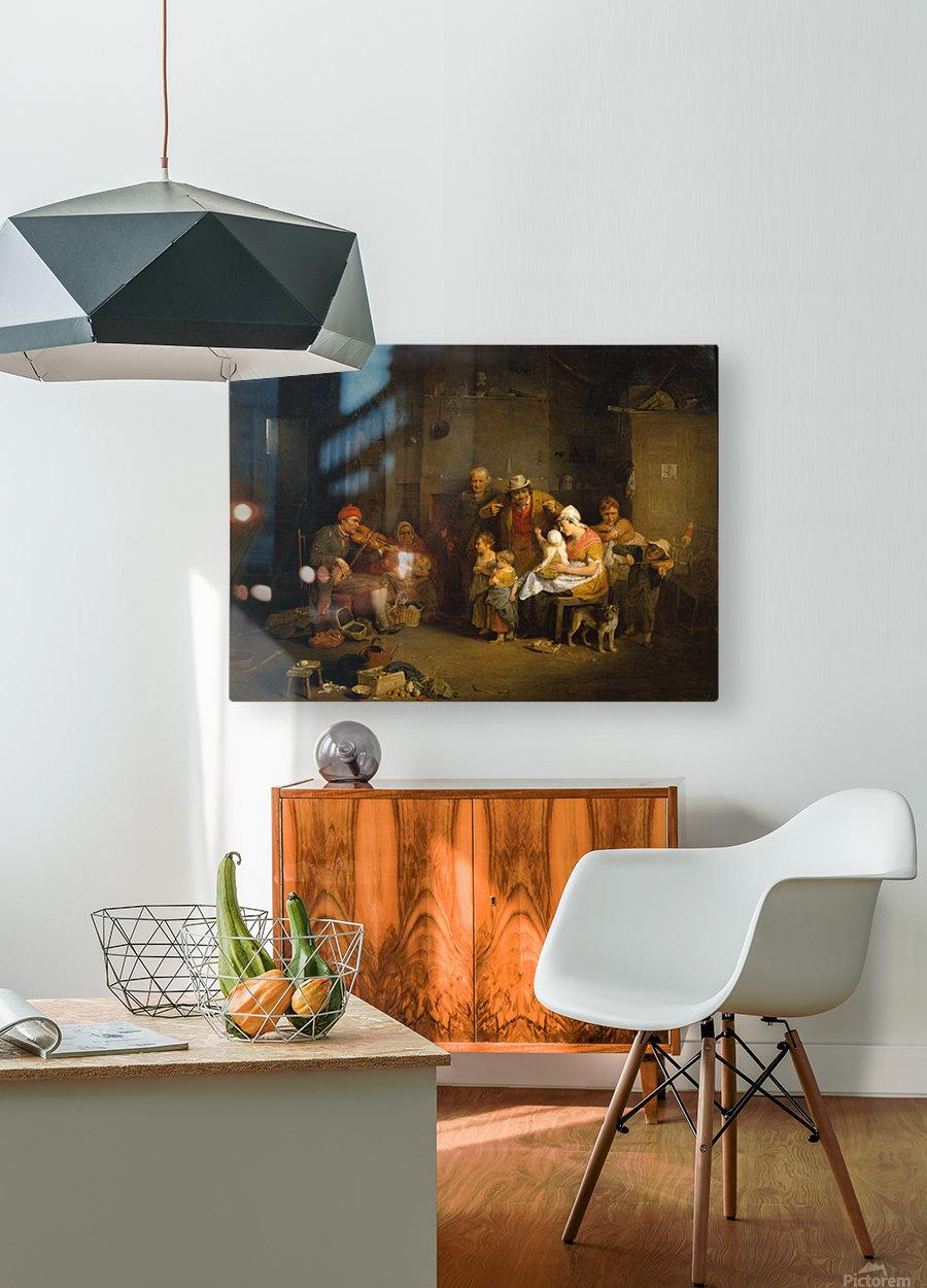 Blind Fiddler  HD Metal print with Floating Frame on Back
