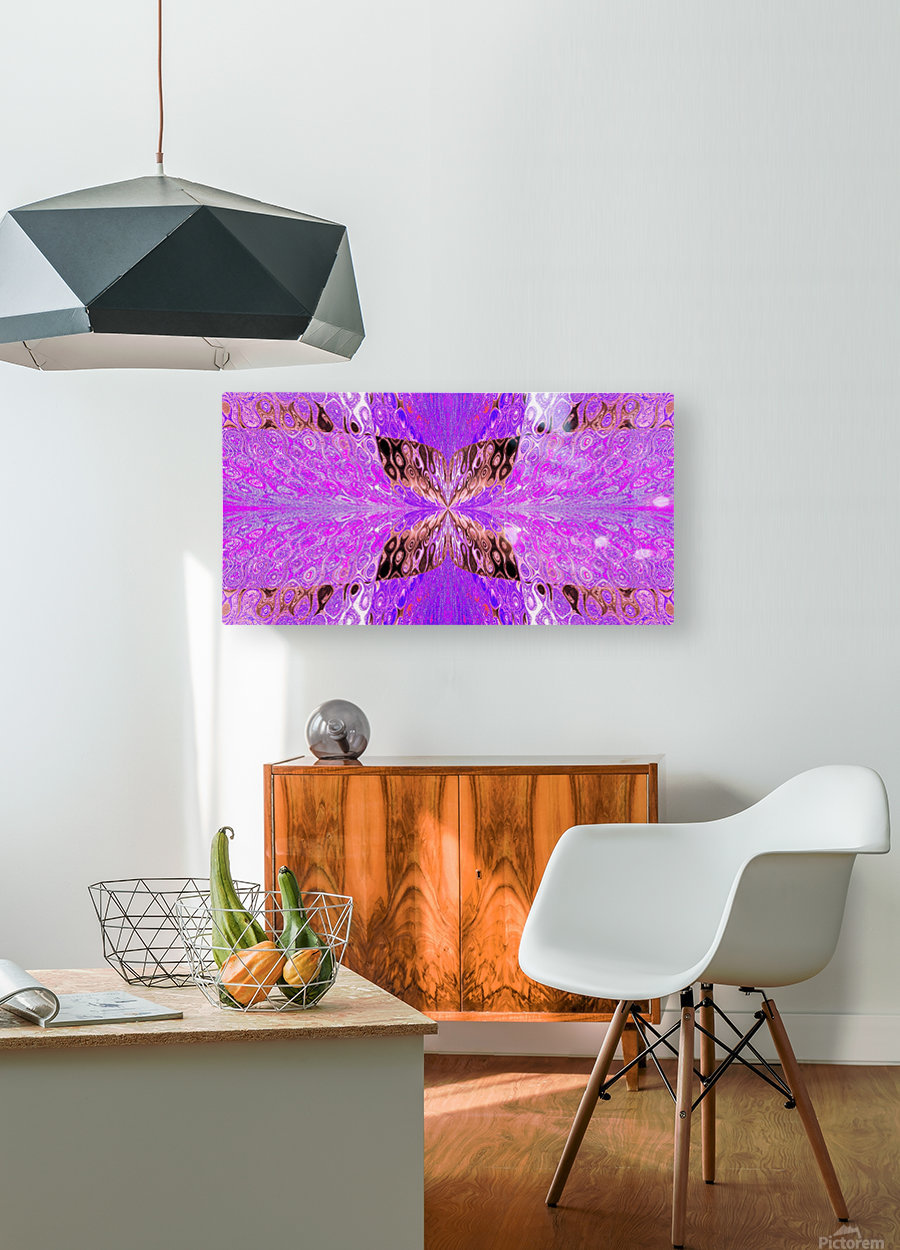 Butterfly in Crystal 49  HD Metal print with Floating Frame on Back
