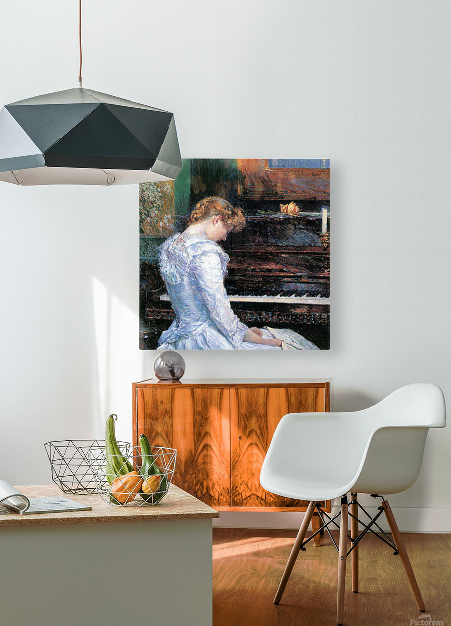 The Sonata by Hassam  HD Metal print with Floating Frame on Back