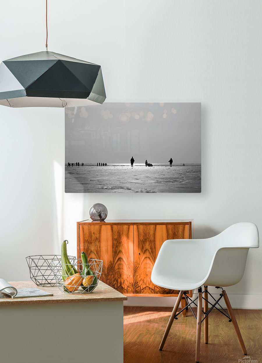 Clifton Beach in Karachi on sunset  HD Metal print with Floating Frame on Back