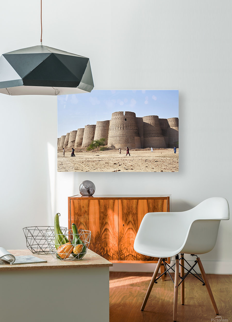 The majestic Derawar Fort in Pakistan  HD Metal print with Floating Frame on Back