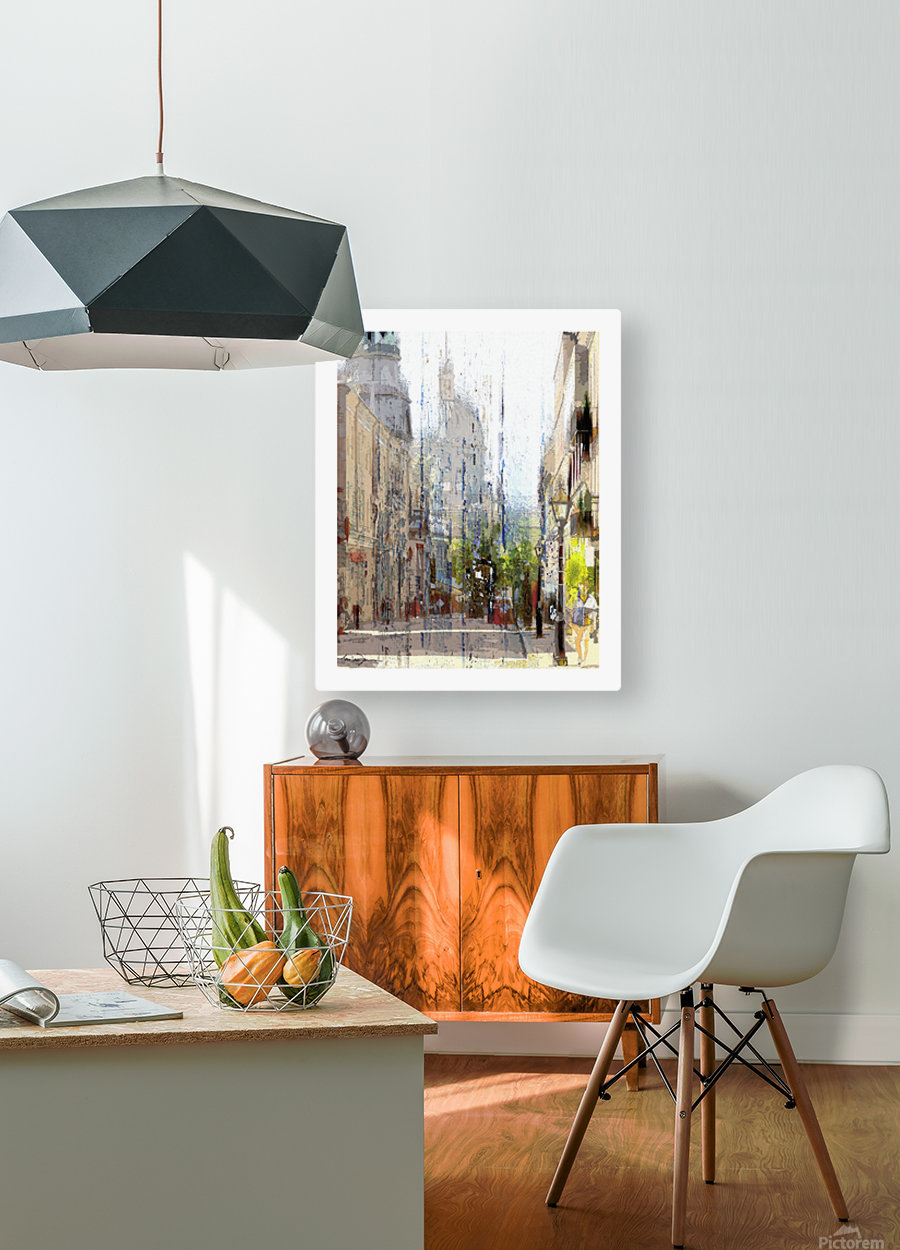 Rue st-Paul Montreal  HD Metal print with Floating Frame on Back