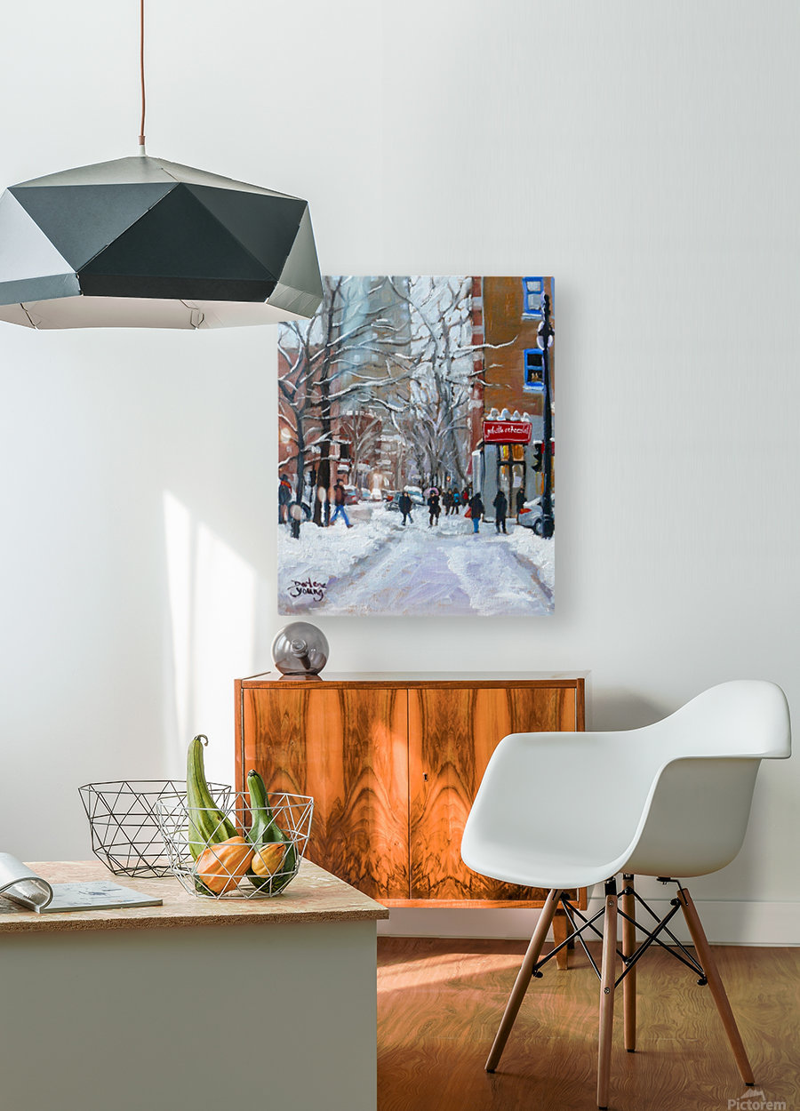 Le Plateau Mont Royal  HD Metal print with Floating Frame on Back