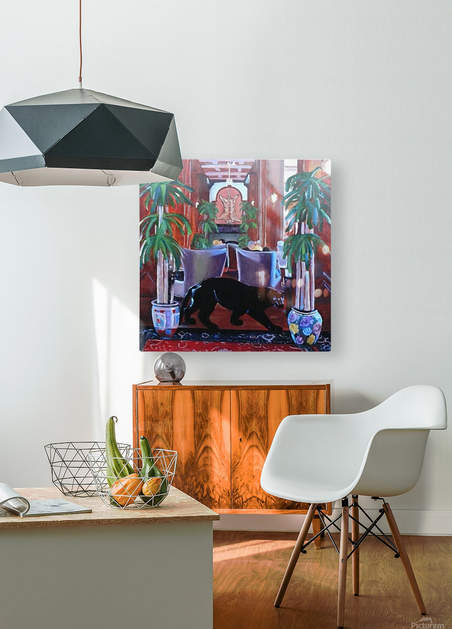 Bengal Lounge  HD Metal print with Floating Frame on Back