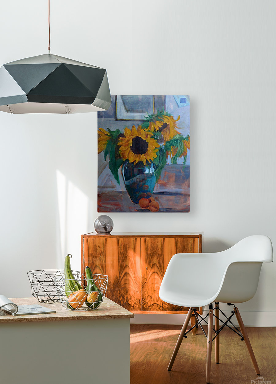 sunflowers home  HD Metal print with Floating Frame on Back