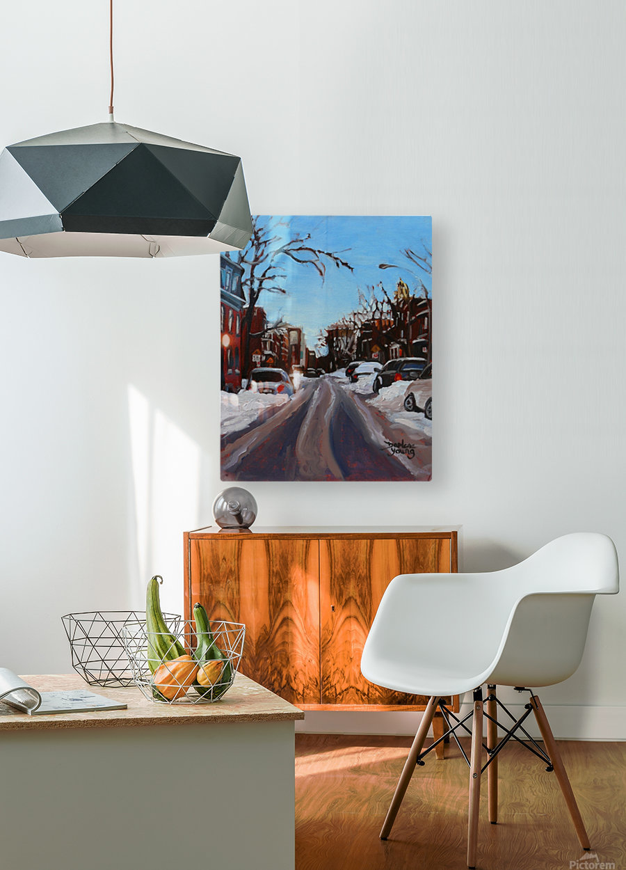 Montreal Winter Scene  HD Metal print with Floating Frame on Back