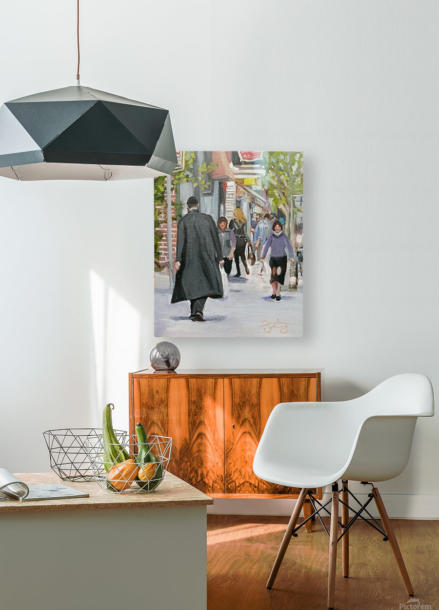 St-Viateur Street  HD Metal print with Floating Frame on Back