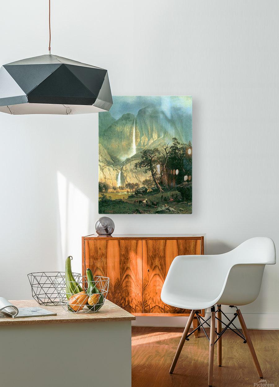 Cho-Looke,  Yosemite Watterfall by Bierstadt  HD Metal print with Floating Frame on Back