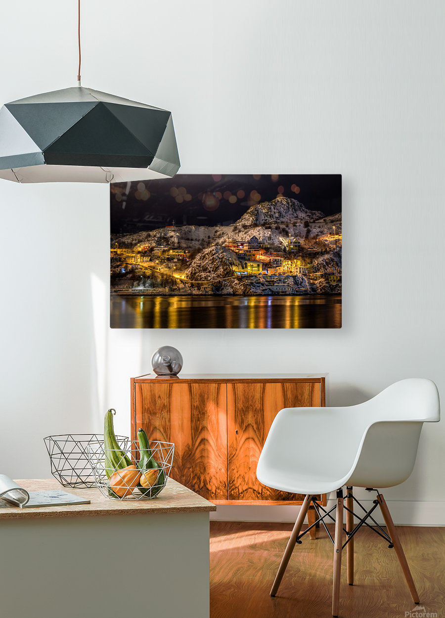 Across the Harbour  HD Metal print with Floating Frame on Back