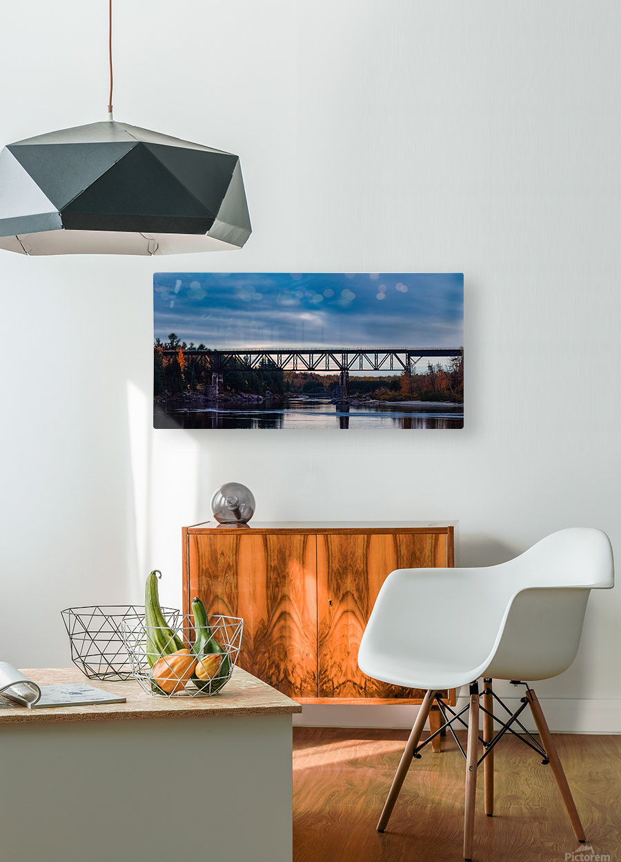 Lheure bleue  HD Metal print with Floating Frame on Back