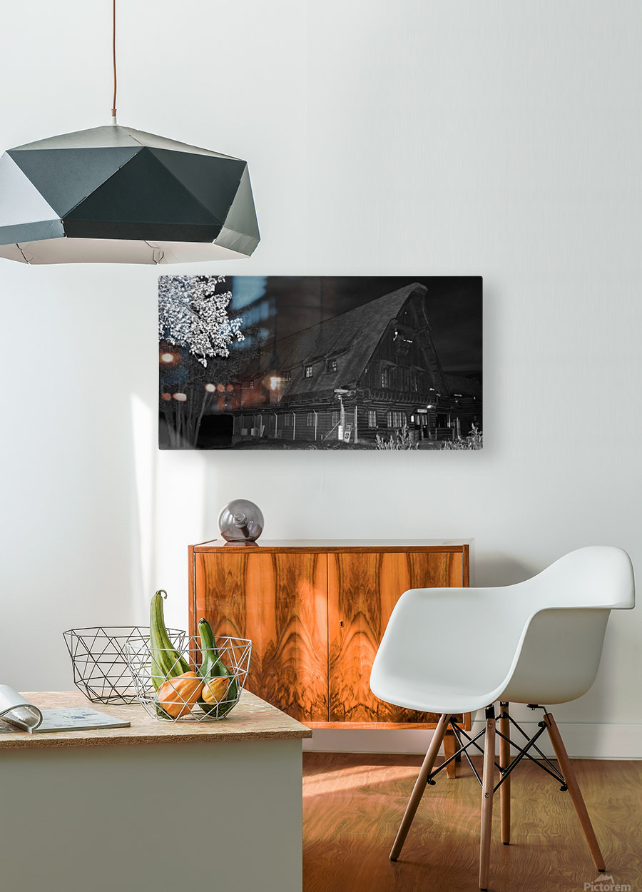 Poste daccueil  HD Metal print with Floating Frame on Back