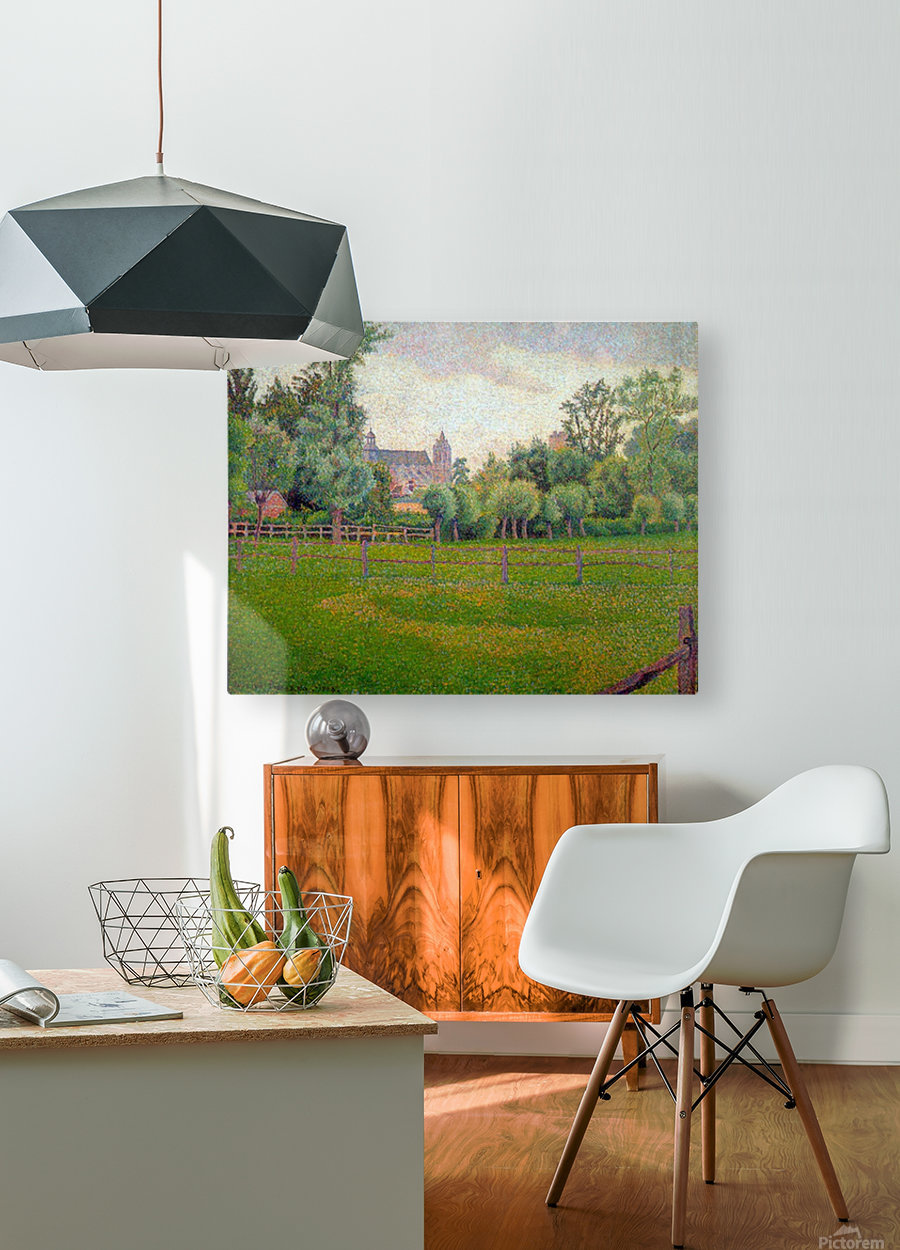 Church at Gisors by Pisarro  HD Metal print with Floating Frame on Back