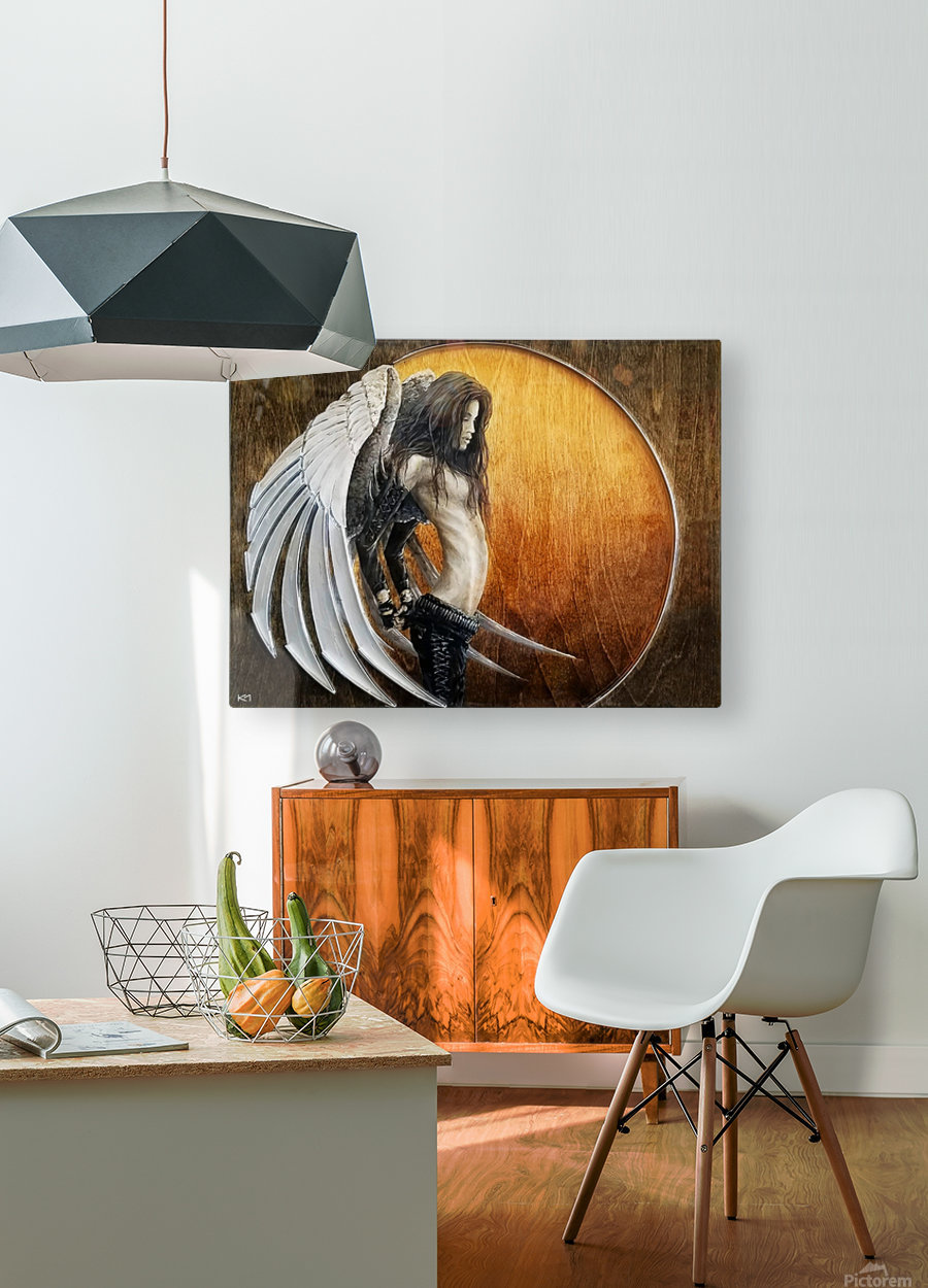 GroWING Pains  HD Metal print with Floating Frame on Back