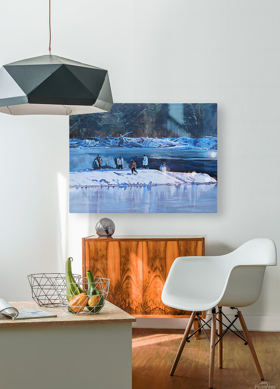 Fire Ice and Friendship  HD Metal print with Floating Frame on Back