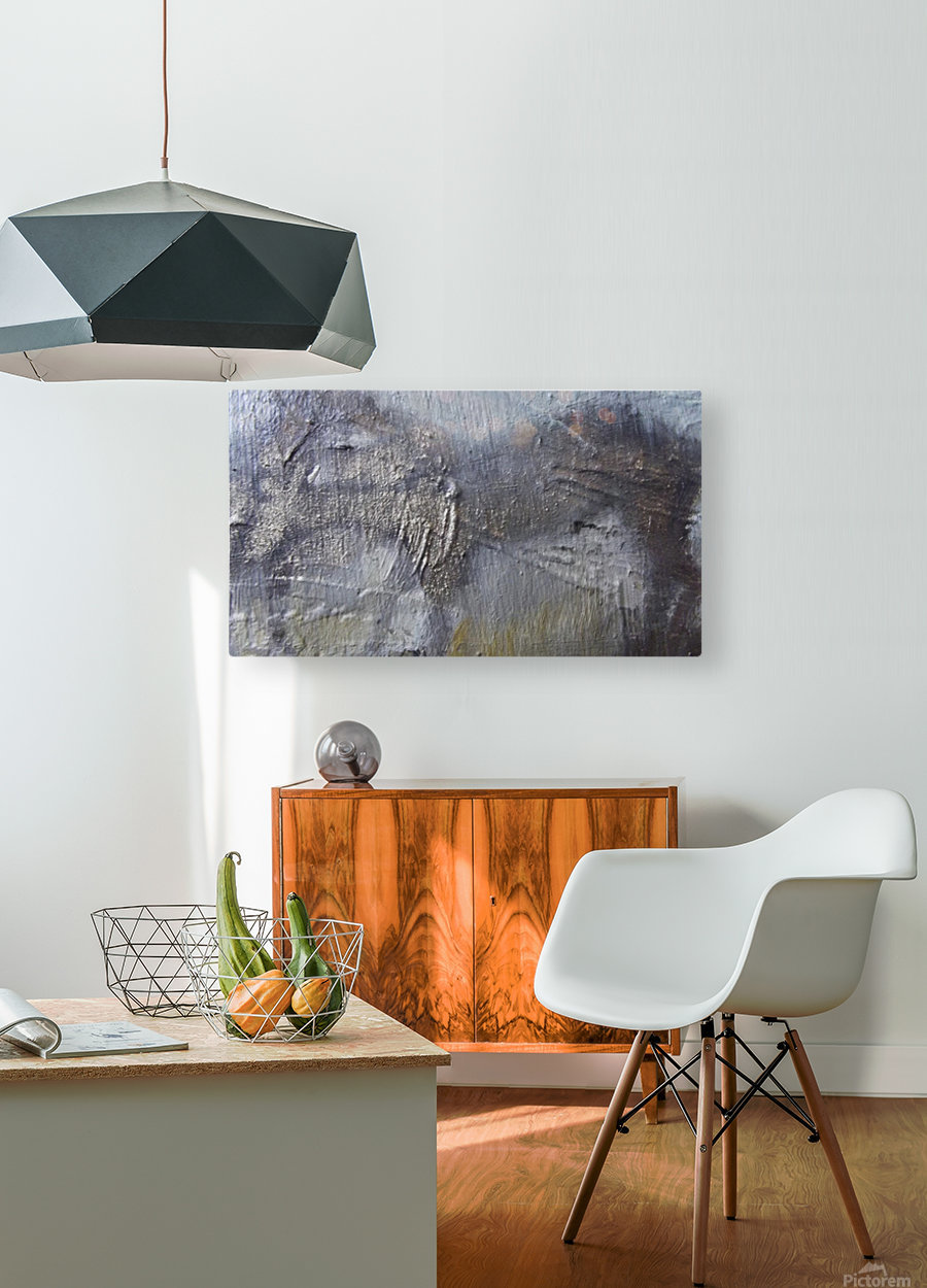 Abstract 2  HD Metal print with Floating Frame on Back