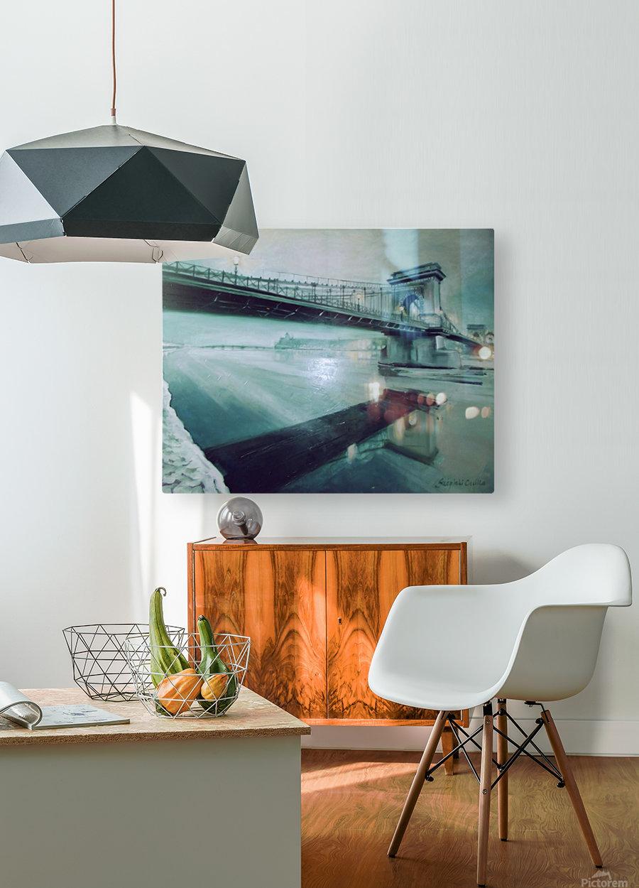 Chain Bridge  HD Metal print with Floating Frame on Back