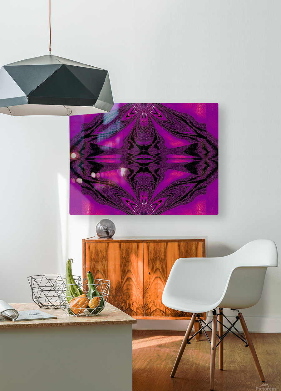 Purple Desert Song 7  HD Metal print with Floating Frame on Back