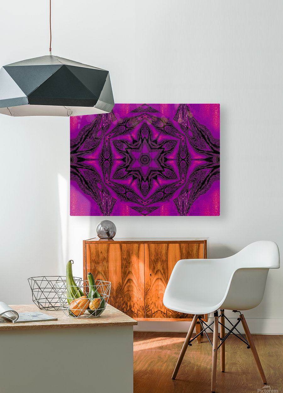 Purple Desert Song 15  HD Metal print with Floating Frame on Back